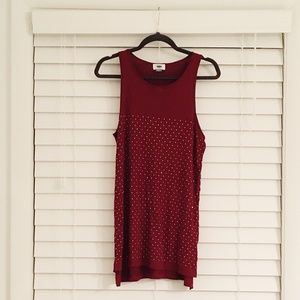 Old Navy Sequined Red Top